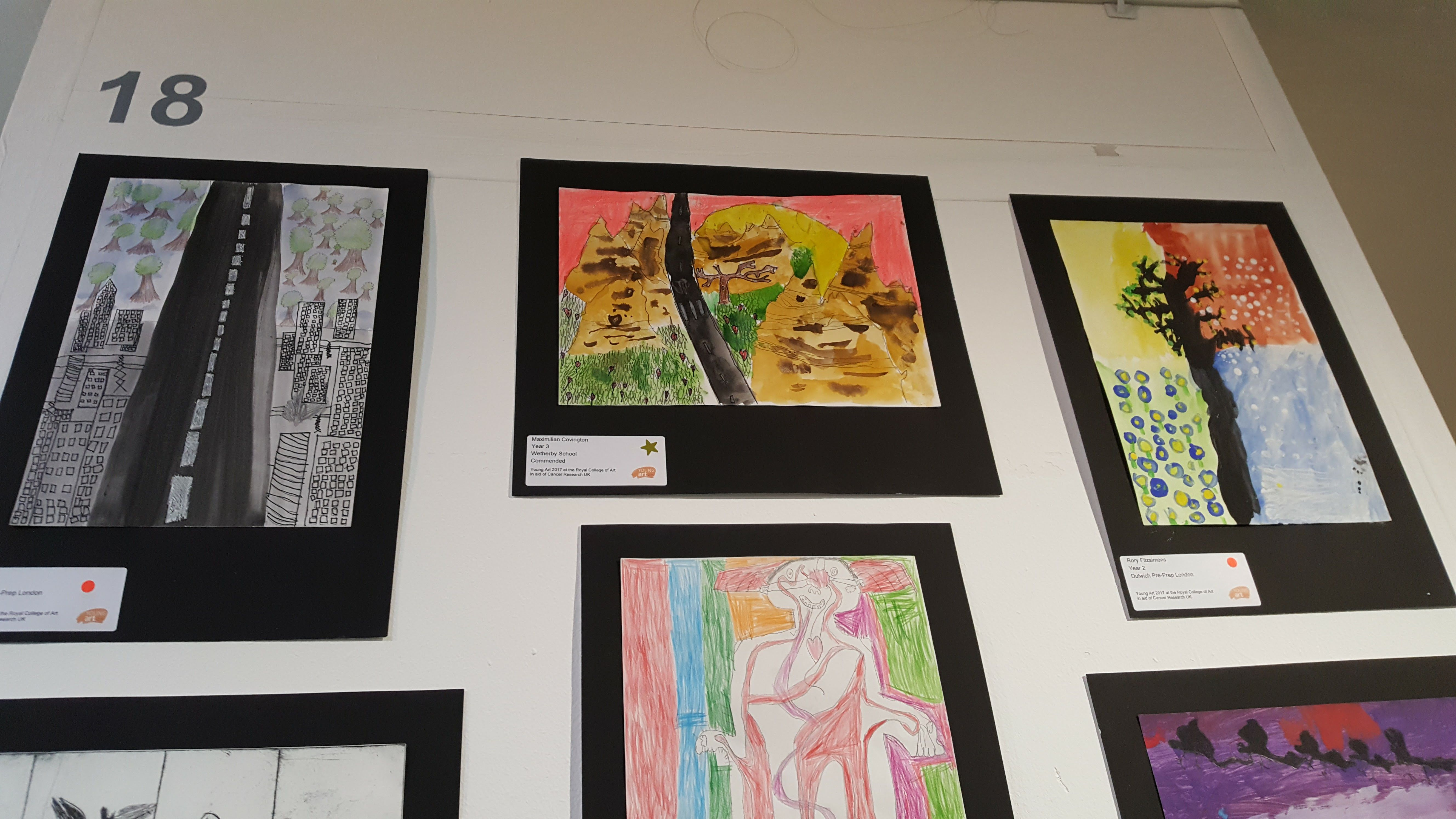 Royal College Of Art >> Royal College Of Art S Young Art Competition Wetherby School